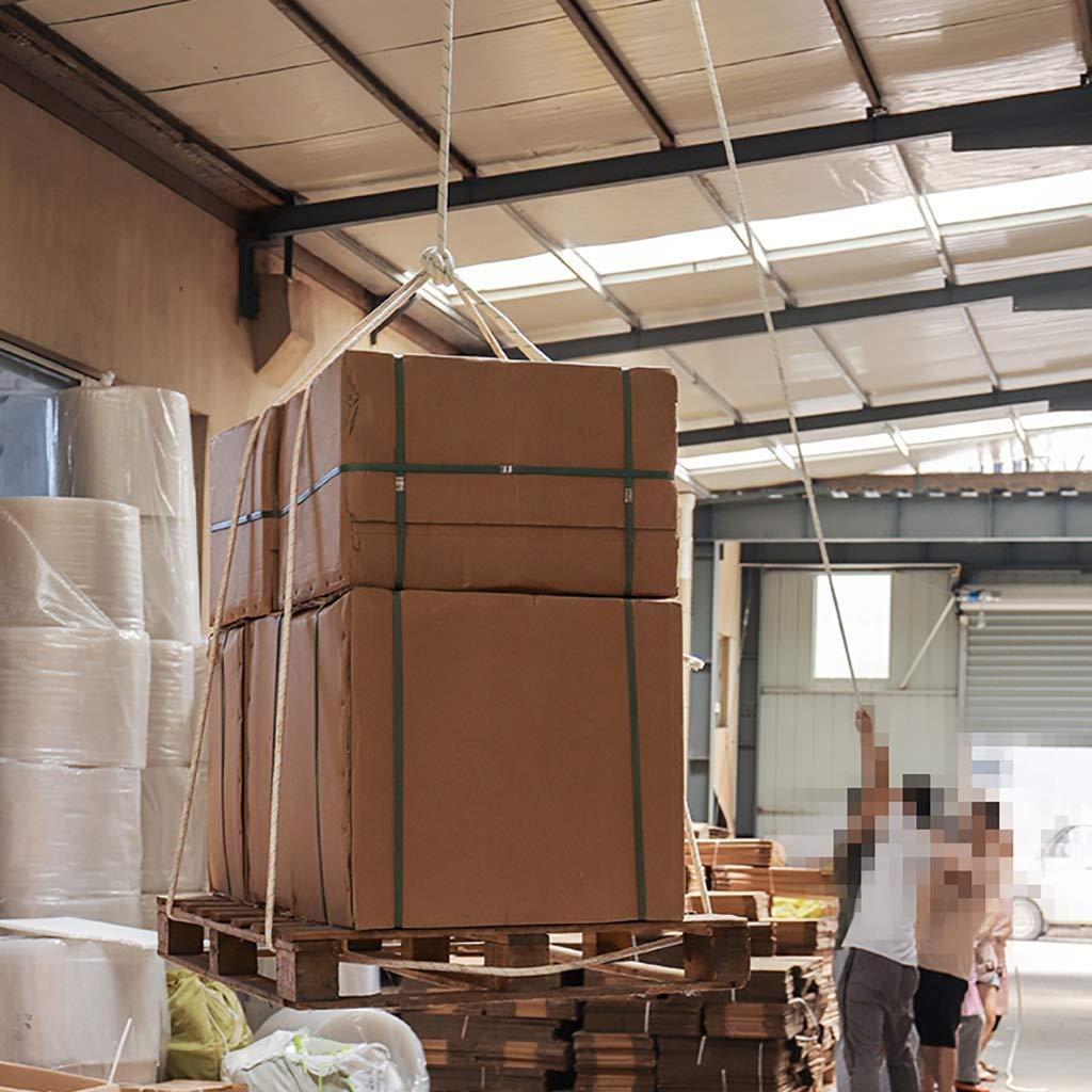 LIZIPYS Einfachseile Kletterseil Hauptseil Outdoor-Sicherheitsseil Arbeitsseil Rettungsseil 20mm mit Stahldraht L/änge 10//20//30//40//50//60//80 100m wei/ß