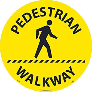 NMC WFS56 Pedestrian Walkway Walk On Sign