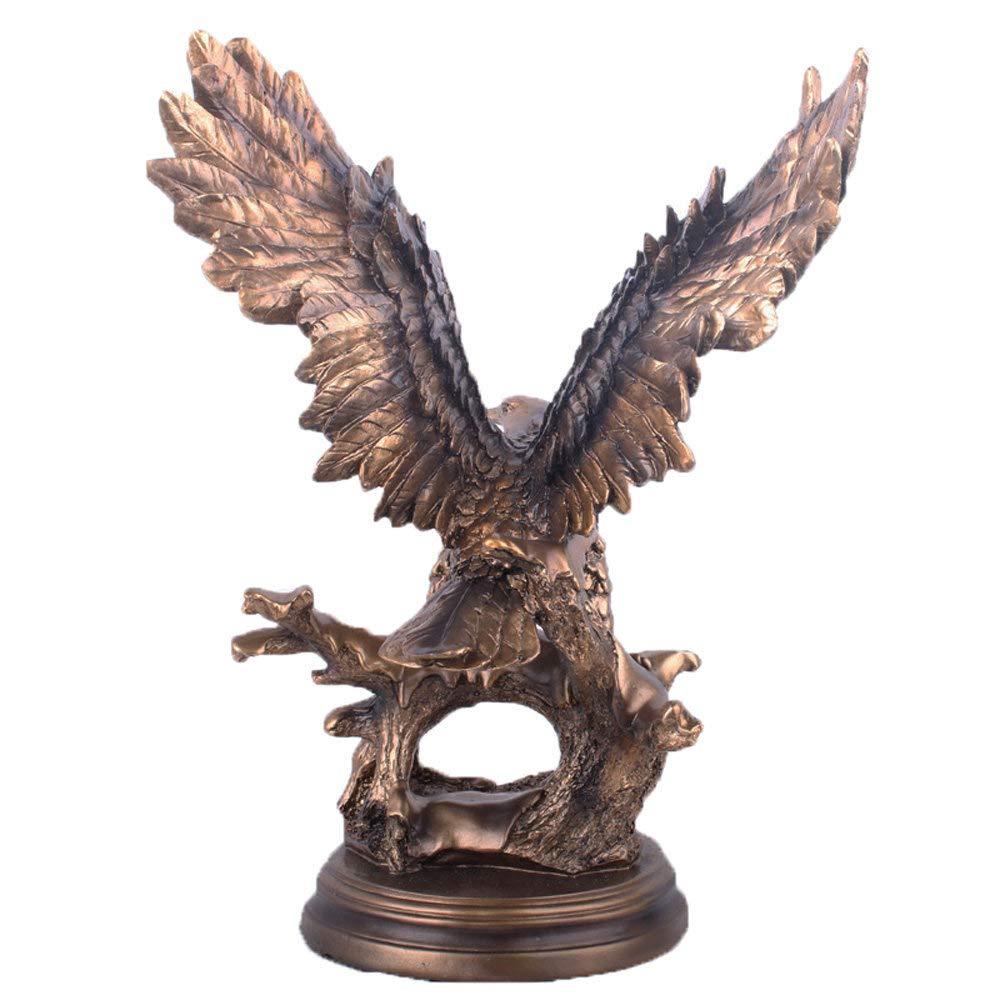 Geschenk 34 X 21 X 44 cm DERATON Adler Statue Studie Tier Skulptur Wohnzimmer Harz Handwerk Schlafzimmer Dekorative Figuren Geeignet F/ür Wohnzimmer