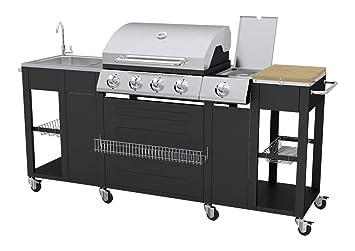 Outdoorküche Edelstahl Xl : Vidaxl barbecue gas grill w schwarz edelstahl barbecue