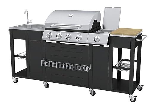 Vidaxl Gasgrill Test : Vidaxl barbecue gas grill w schwarz edelstahl barbecue