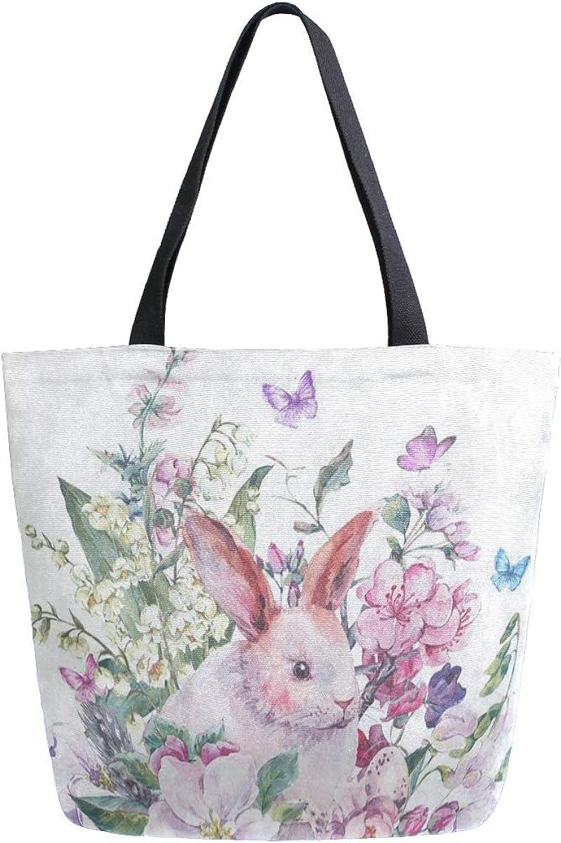 Canvas Tote Bag Floral...