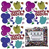 Confetti MultiShape Birthday Wishes Mix - One Pound Bag (16 oz) Free Priority Mail --- (CCP9218)
