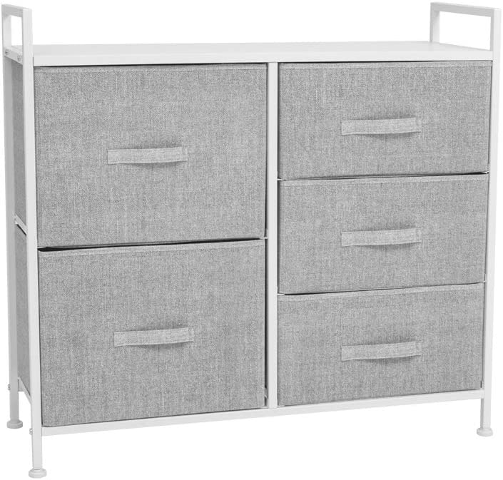 4. AZ steel frame, wood tops, large drawer space clothing storage.