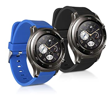 kwmobile 2X Pulsera para Huawei Watch 2 / Samsung Gear S2 Classic ...