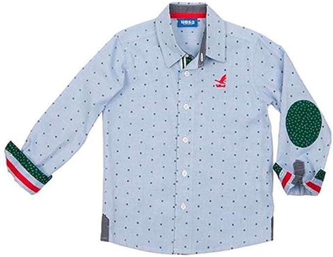 Ubs2 Camisa Niño Azul T8-14 (8A): Amazon.es: Ropa