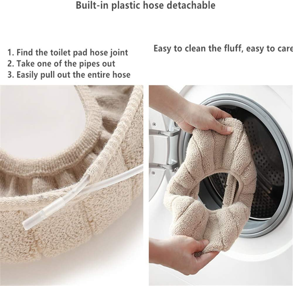 Toilet Seat Cover Washable Toilet Seat Cover 3 Pieces Soft Thickness Washable Stretchy Qplcdg Toilet Seat Warmer
