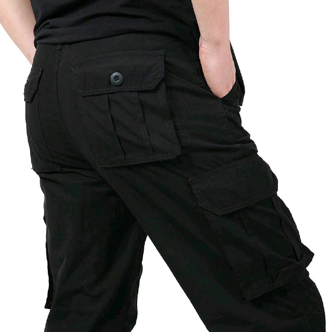 6ef355c0f 3 Abetteric Men's Outdoor Climbing Workout Workout Workout Warm Oversize  Work Cargo Pants 5f2a1a