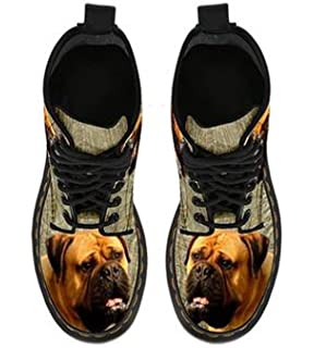 Amazing Bullmastiff Double Side Print Boots For Women