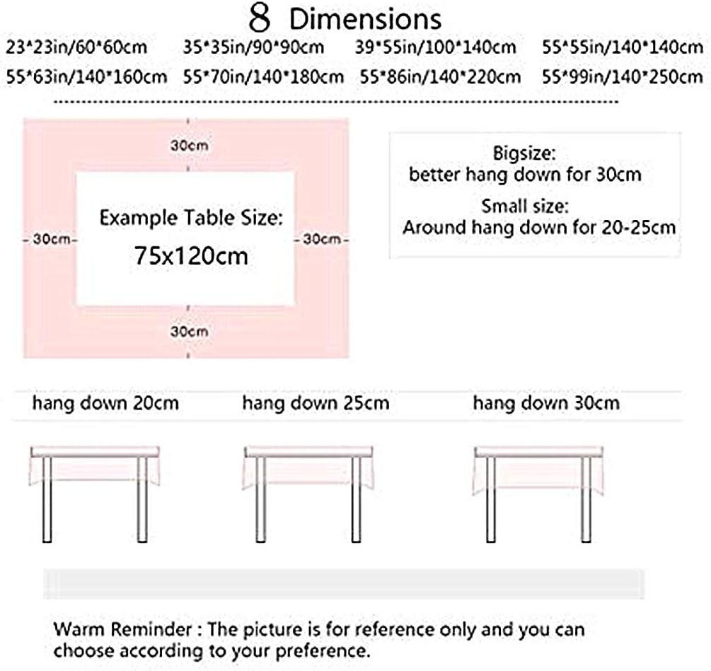 Rectangulaire Tissu Lavable Entretien Facile R/ésistant Multi-usages Int/érieur et Ext/érieur Anti-Salissure /Étanche DOTBUY Nappe de Table