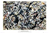 Silver On Black Poster by Jackson Pollock 36 x 24in