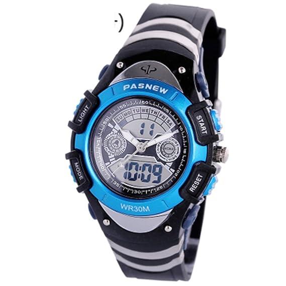 Los relojes de los hombres aire libre impermeable reloj deportivo escalar montañas mesa multifunción boys-B: Amazon.es: Relojes