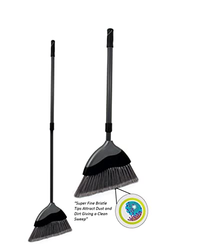 Olive Green Indoor Sweeping Broom Brush And Handle