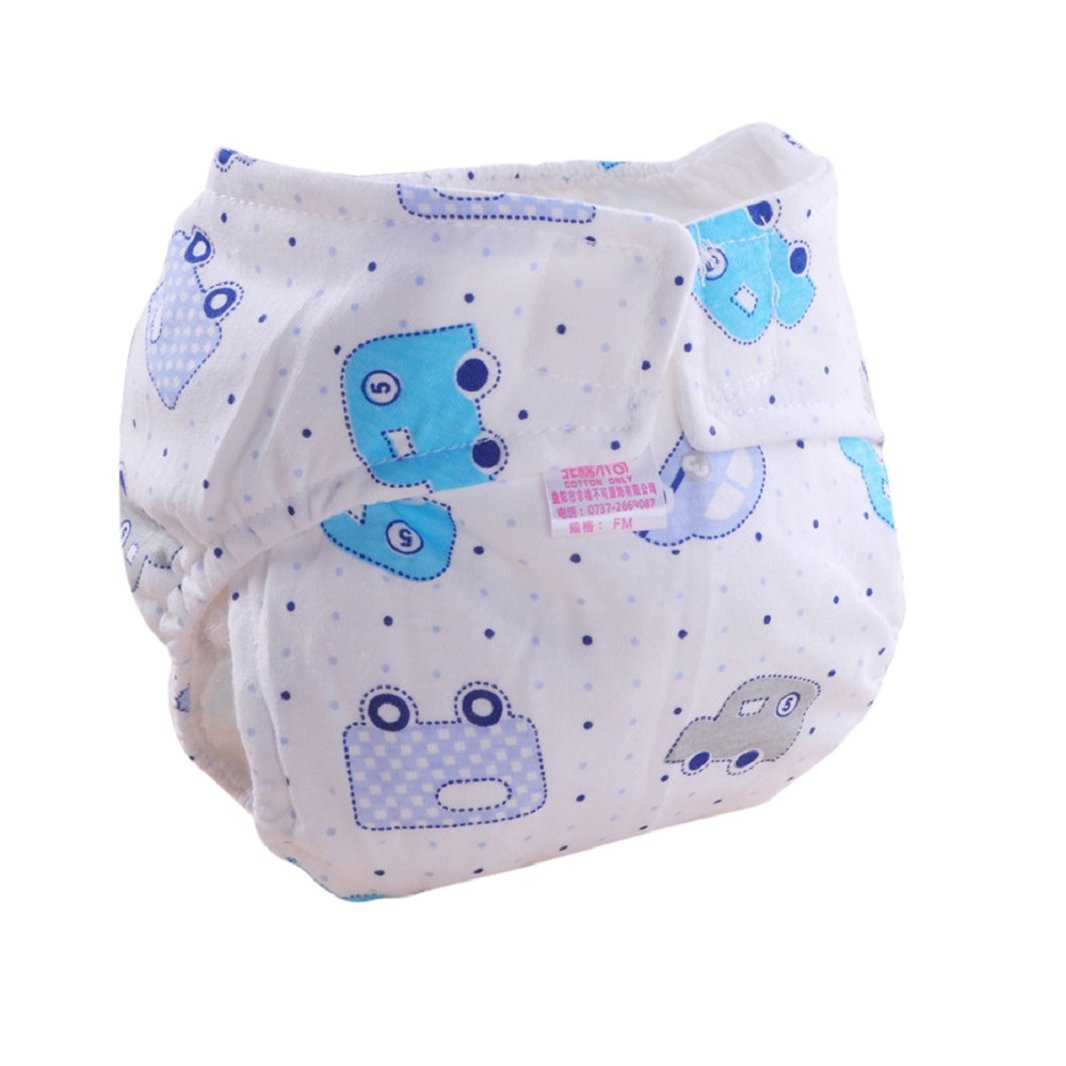Iuhan Cute Baby Cotton Training Pants Reusable Infants Nappies Diapers
