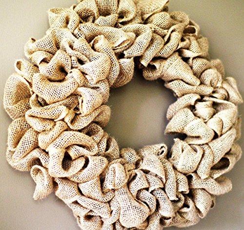 15 inch Burlap wreath, Wedding wreath, Rustic wreath, Outdoor wreath,Front door Wreath,DIY Wreath,Plain Wreath, Spring Wreath, Winter Wreath, home -