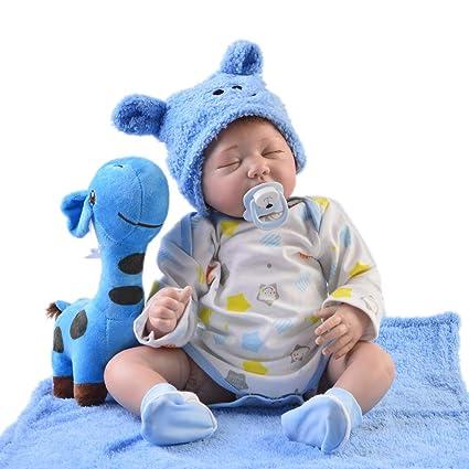 Amazon.com: Muñeca de bebé renacido de 22.0 in, hecha a mano ...