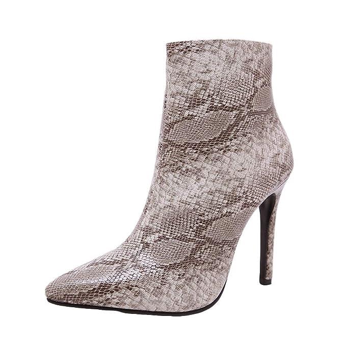 POLPqeD Zapatos Mujer Botines Mujer Invierno Botas Altas Tacon Botines Invierno Mujer 2018 Botas Mujer largas
