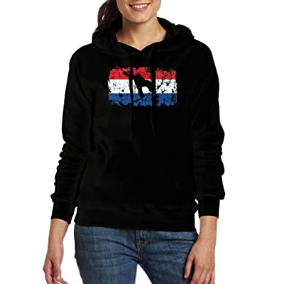 Dutch Flag Snowboarding Women Hoodies Print Cotton Long Sleeve Pullovers With Pocket