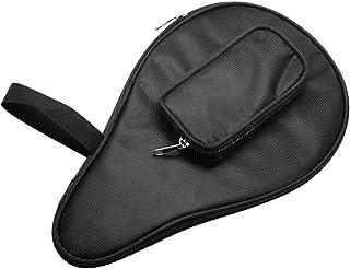 Borsa da Tavolo da Ping Pong Impermeabile Ping Pong Paddle Bat Pouch Ball Case (Nero)
