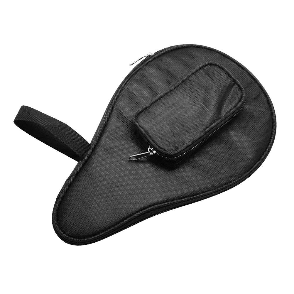 VORCOOL 卓球バットバッグ 防水 ピンポンパドル バットポーチ ボールケース(ブラック)