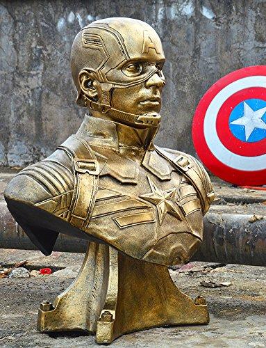 Captain America The Winter Soldier Costume Replica (Gmasking Captain America Bust Bank Statue 1:1 Replica)