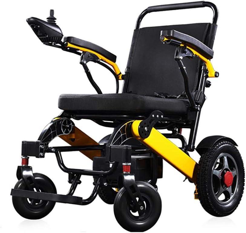 Sillas de ruedas Mini, pequeño Silla de ruedas eléctrica , Silla de ruedas plegable, acero,,Suspensión de la rueda delantera, batería de litio de 12 A, freno automático electromagnético, duración de l