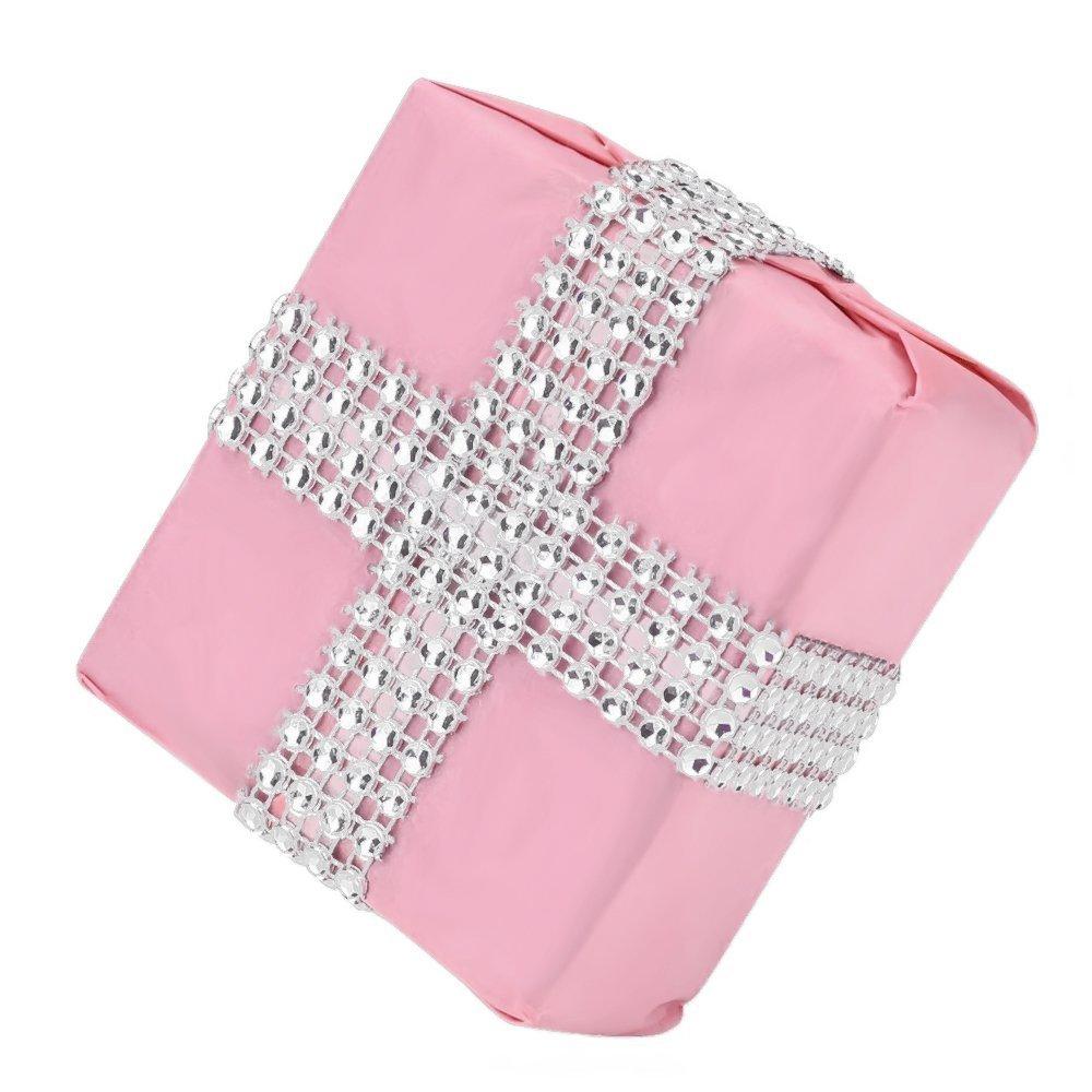 Y/&Y Star 10 Yards 30ft 8 Row Purple Diamond Rhinestone Mesh Ribbon Bling Bling Wrap Bulk 8Row Pink purple