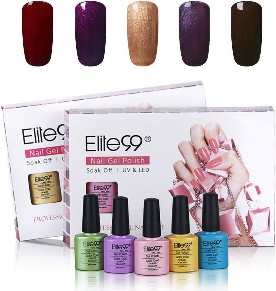 Elite99 Pick Any 5 Colors Soak Off Gel Nail Polish UV LED