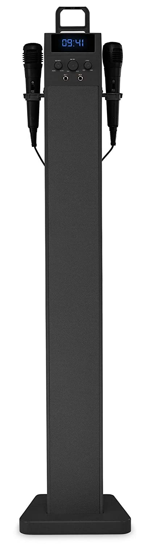 Beatfoxx SkyTower 2.0 Bluetooth Sound Tower chaîne pour karaoké, noire