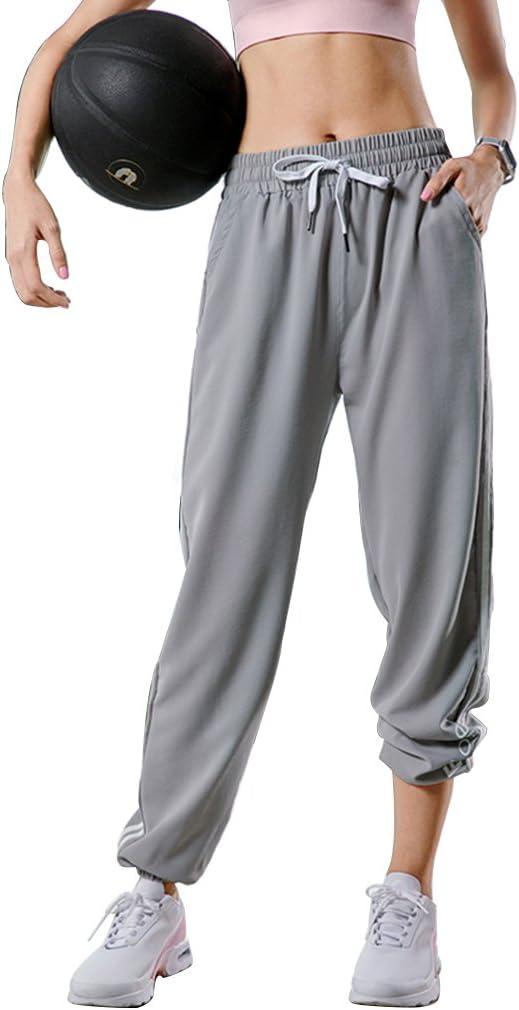 Pantalones deportivos femeninos grises de verano de sección ...