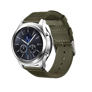 Jewh - Correa de Nailon para Reloj Inteligente Samsung Gear S3 (Impermeable, Correa de