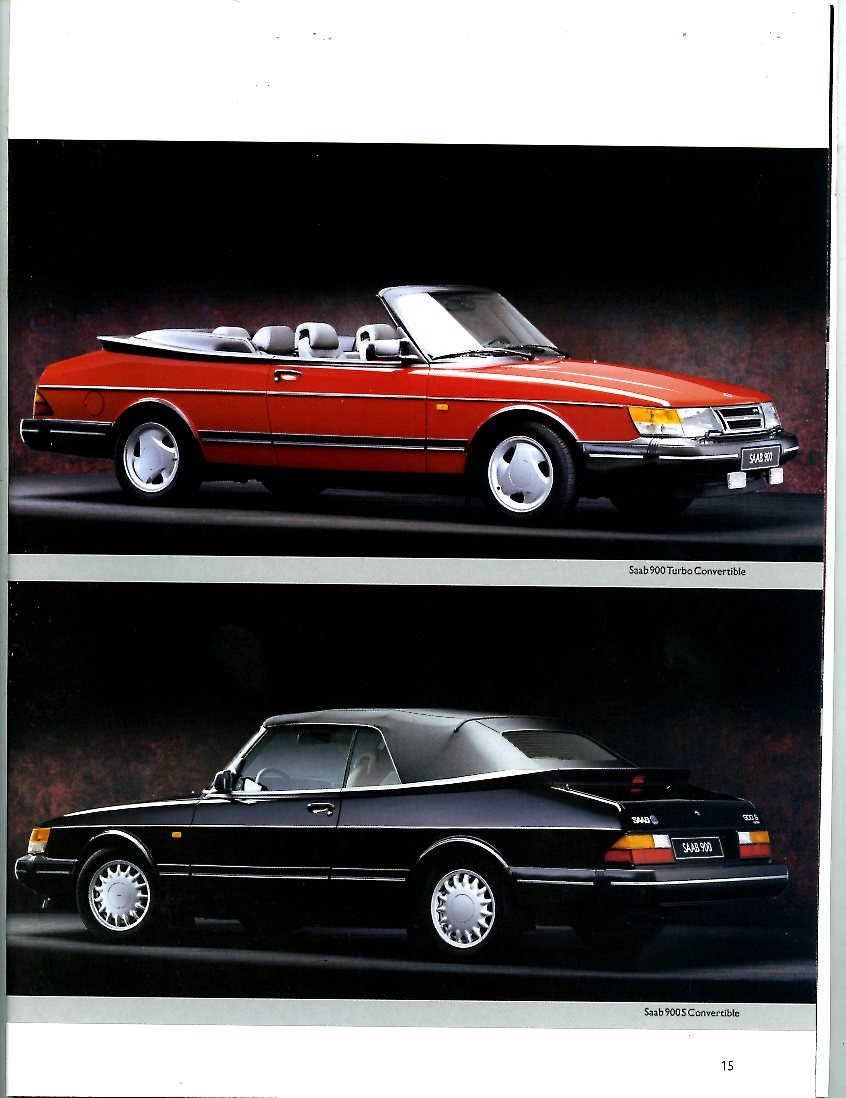 Amazon.com: 1993 Saab 900 & 9000 Series Brochure: Entertainment Collectibles