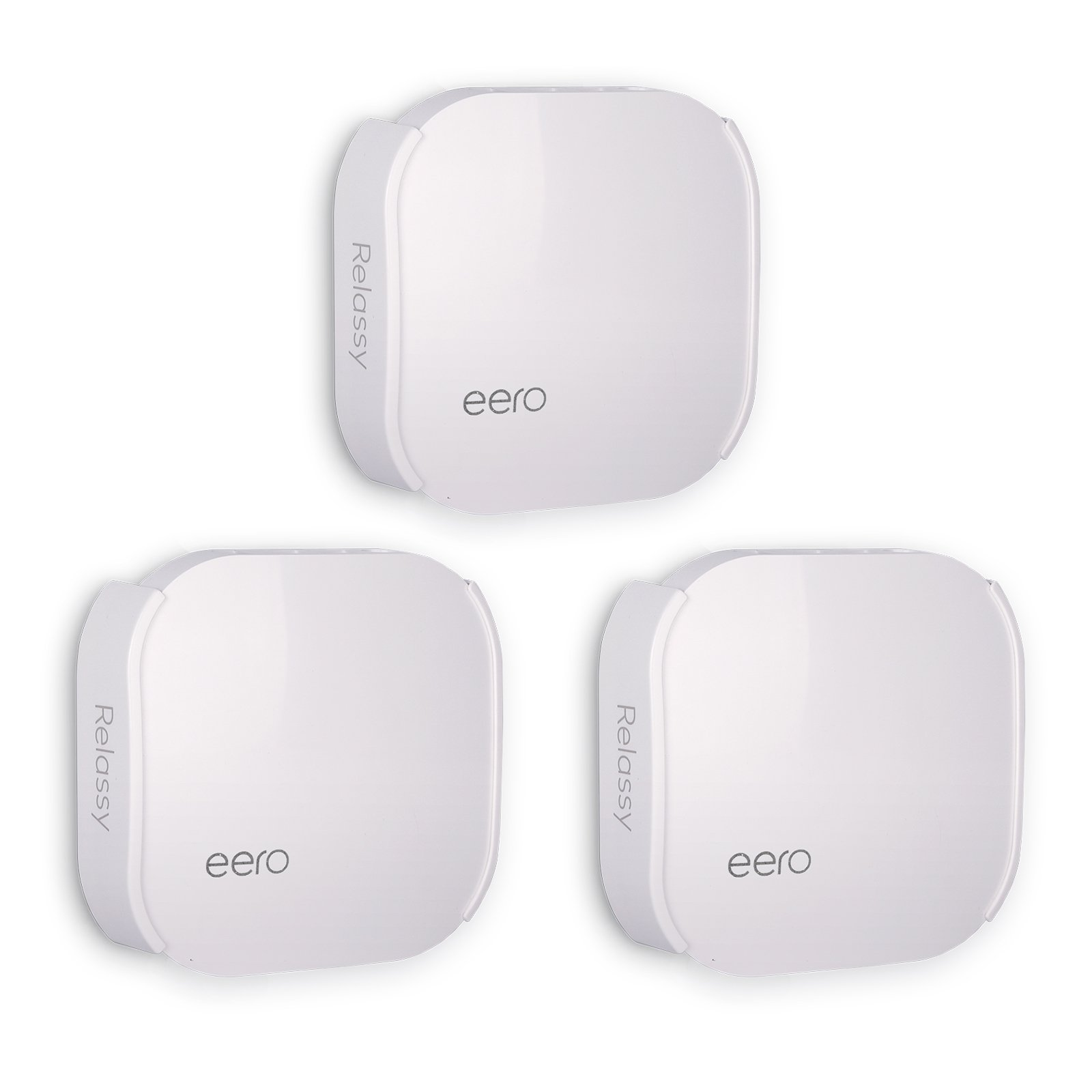 Wall Mount Compatible with EERO WiFi pro (3 Pack) Relassy Wall Mount Bracket Ceiling Holder Compatible with eero WiFi,White[2018 Upgraded]