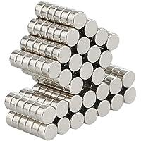 Wukong Aimants néodymes super-puissants - 105 pieces - 3 x 6 mm,Puissant Traction Idéale Magnet Pour Tableaux Magnétiques, Tableau Blanc,Réfrigérateur,Interactif, Surface Magnétiques, Bricolage