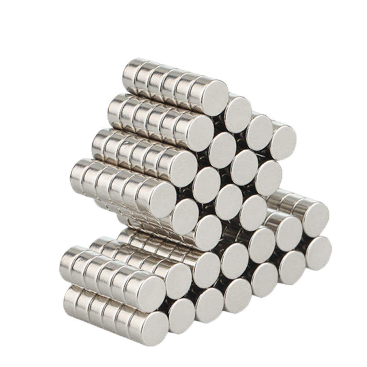 Wukong 105 piezas Imanes de nevera de cilindro de neodimio N52 (6*3mm) multiusos Junta de borrado en seco imanes imanes de oficina resistente imanes para ...