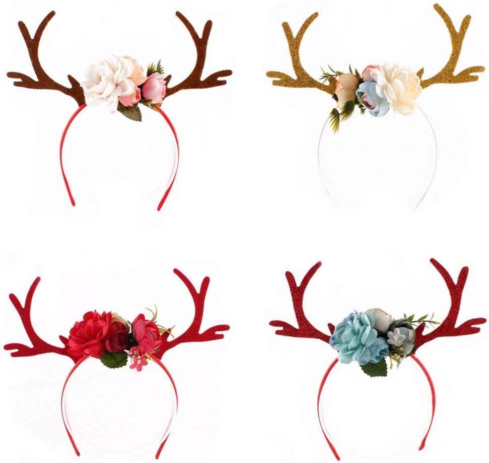 NUOBESTY Diadema de ciervo de Navidad diademas para adultos diy ...