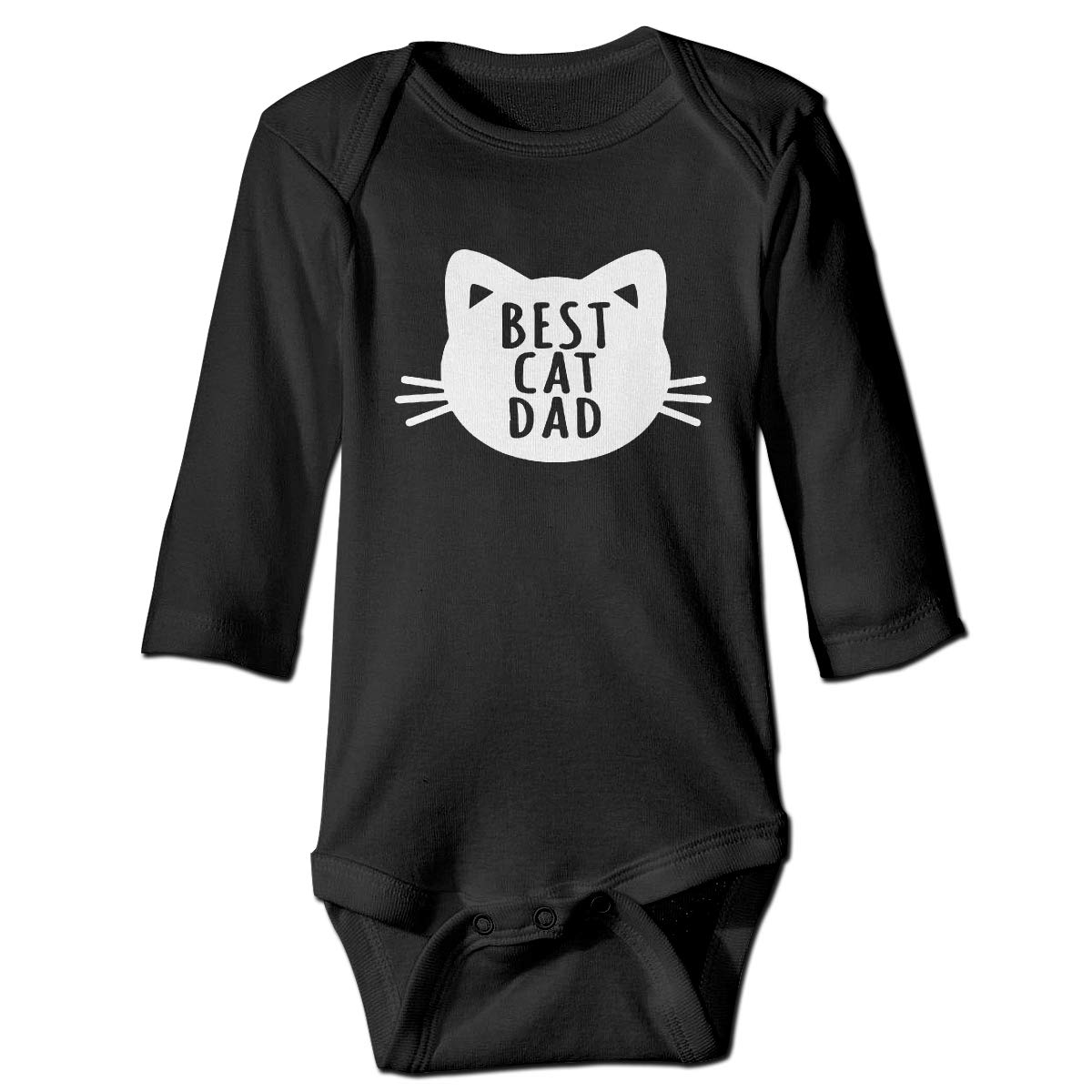Suit 6-24 Months Toddler Best Cat Dad Long Sleeve Climbing Clothes Romper Jumpsuit