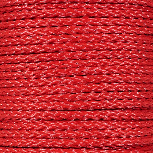 Paracord Planet Hollow Braid Polypropylene Rope - 3/8 inch - Available in Different Colors - Lengths of 10 Feet, 25 Feet, 50 Feet, and 100 Feet