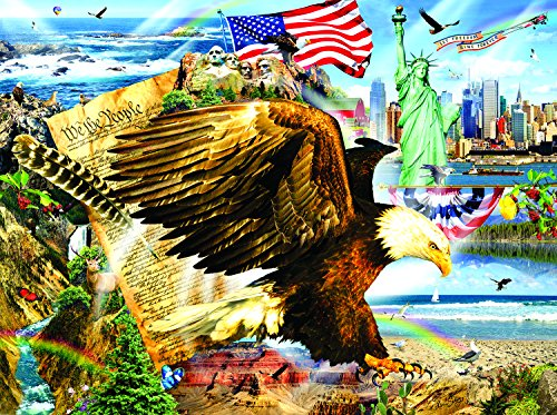 Across the Land 1000 Large Size Piece Jigsaw Puzzle by SunsOut