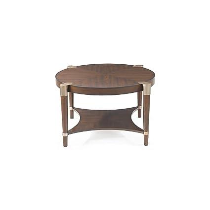 Amazon Com Bassett Mirror Company Cole Round Cocktail Table