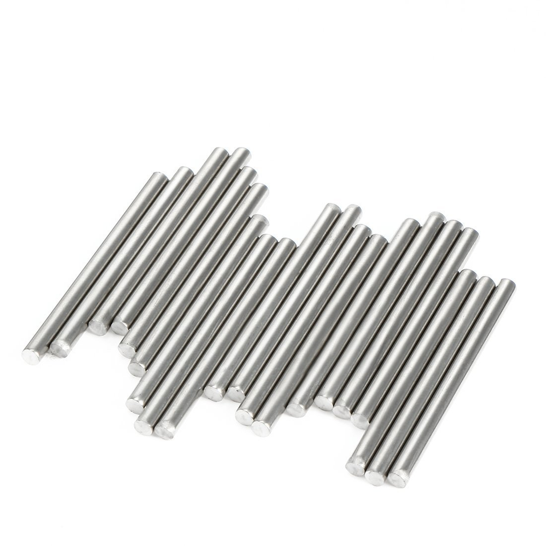 sourcingmap 20Pcs Stainless Steel Round Shaft Rods Axles 2mm x 45mm for RC Toy Car a17030200ux0547