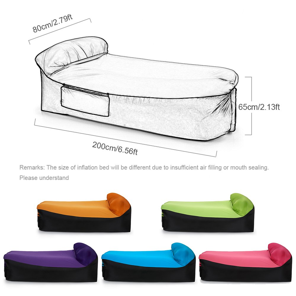 Amazon.com: Lixada tumbona inflable Aire camas sofá cama ...
