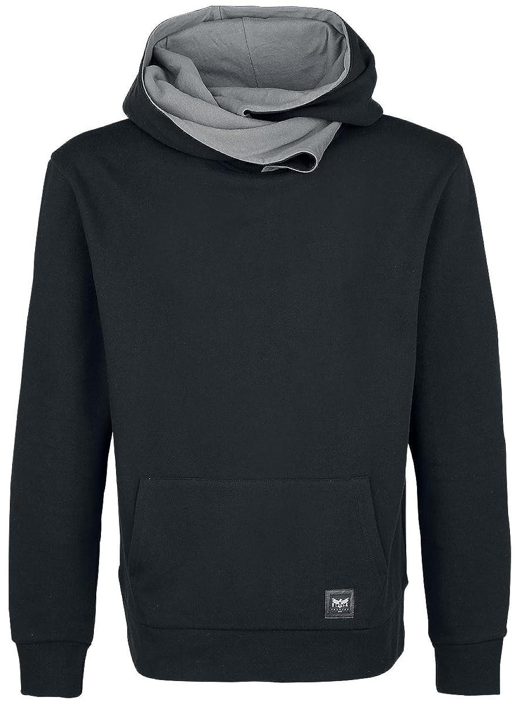 Black Premium by EMP Basic Shawl Collar Hoodie Hooded sweatshirt black