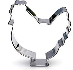 Chicken Cookie Cutter- Stainless Steel