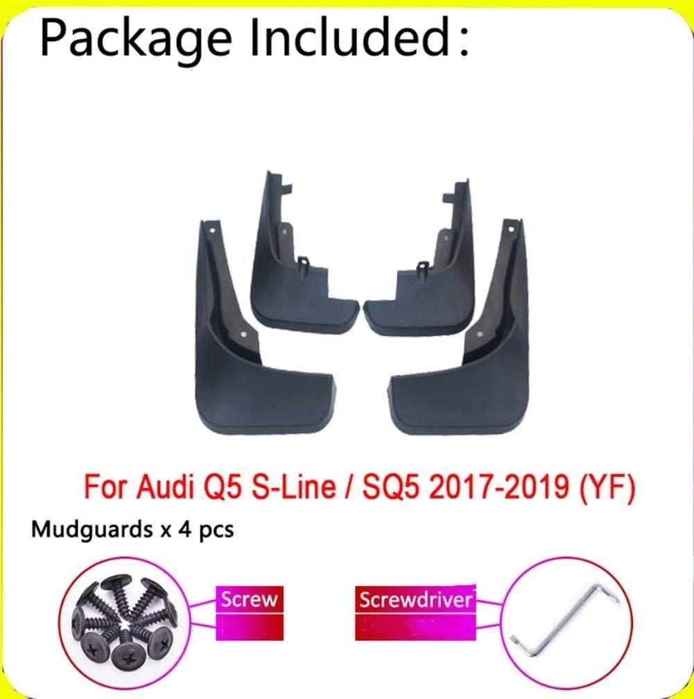 Color : Black Schmutzf/änger Auto-Schmutzf/änger for Audi Q5 SQ5 SLine SLine Sport YF 2019 2018 2017 Fender Mud Schutzklappe Splash Flaps Radsch/ützer Zubeh/ör