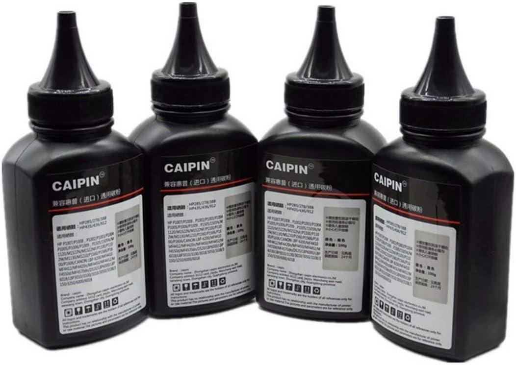 100g//Bottle,2 Pack 100G Original Black Refill Printer Toner Powder Kit for Canon MF5530 MF5550 MF5730 MF5770 LBP3200 LaserClass 2050 2060 L4000 Laser Toner Power Printer
