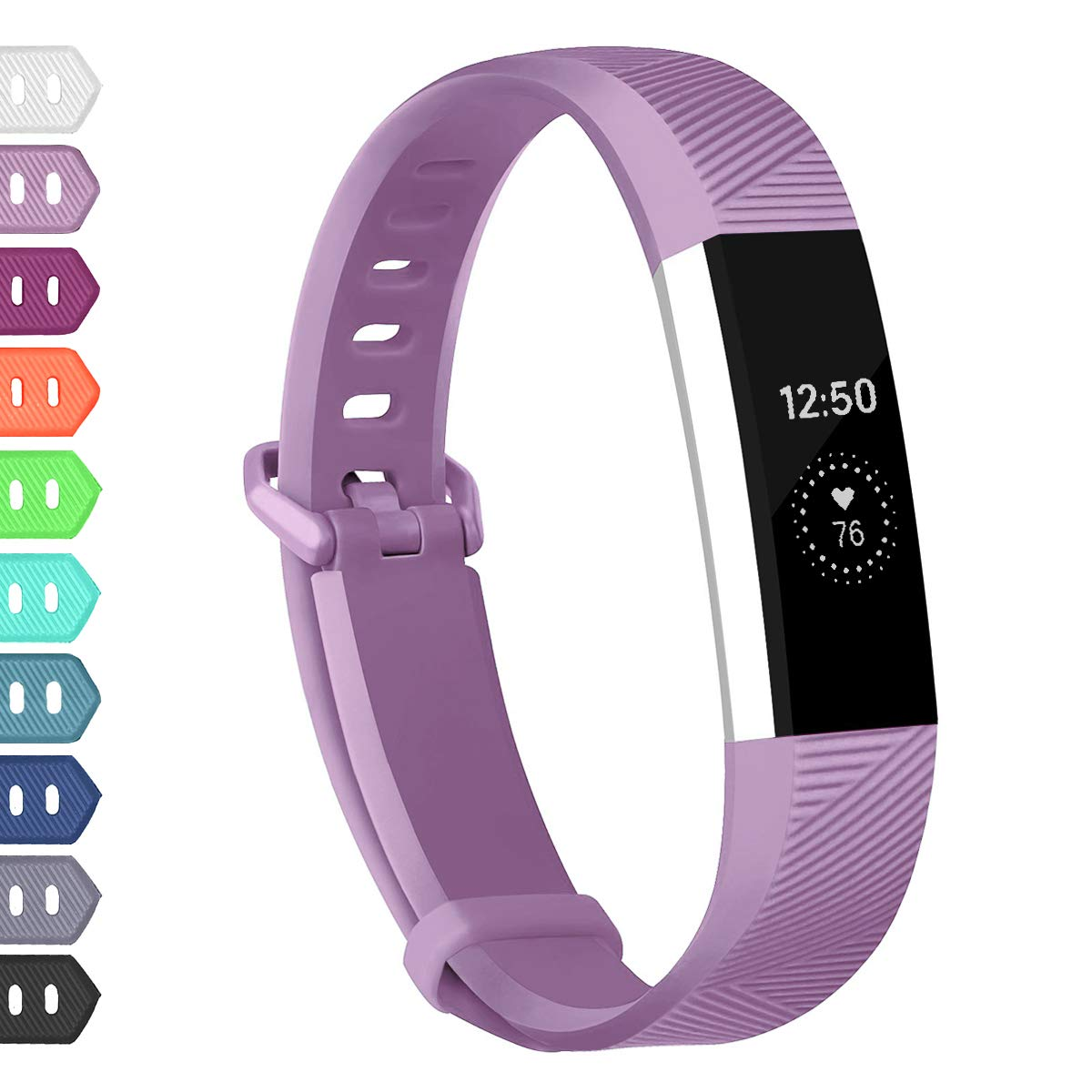 Wekin Replacement Bands Compatible with Fitbit Alta HR and Alta, Breathable Sport Silicone Wristbands Bracelet with Secure Metal Buckle for Woman Men by Wekin