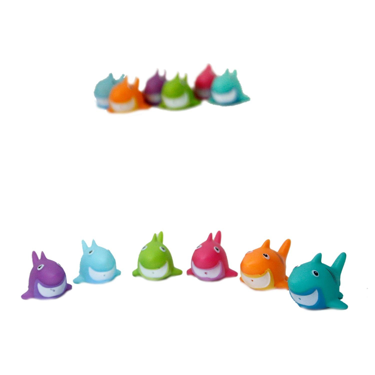 Colorful Shark Squirt Toys