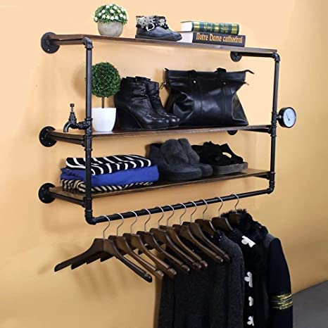 Amazon.com: ZHHL - Perchero de pared de estilo industrial ...
