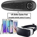 Bluetoothスマートフォン リモコン 【IVSO】ワイヤレス万能リモコン【選べる2色】 ゲームパッド/VR 3Dメガネ/自撮り/マウス機能/電子書籍/音楽操作 など機能付き  iPhone se/6s/6plus/5s/5/4s/Sony / SAMSUNG /HTC… IOS & 多数 Android スマホ・タブレットに対応 Bluetoothコントローラ ゲームコントローラー(ブラック)